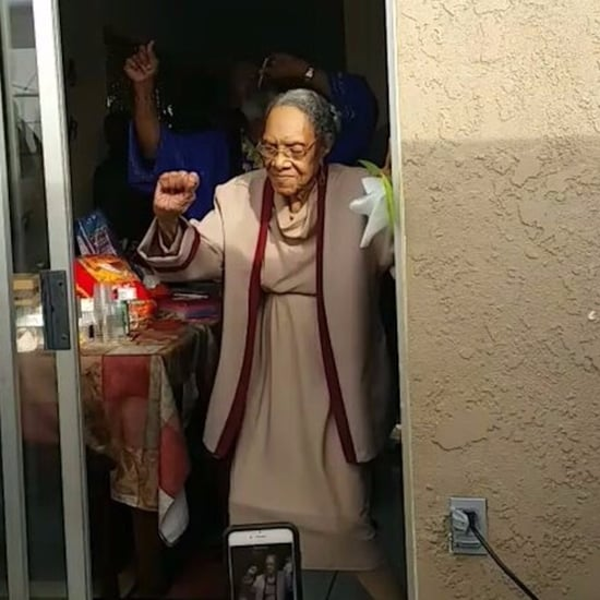 100-Year-Old Woman Dancing to Bruno Mars Video