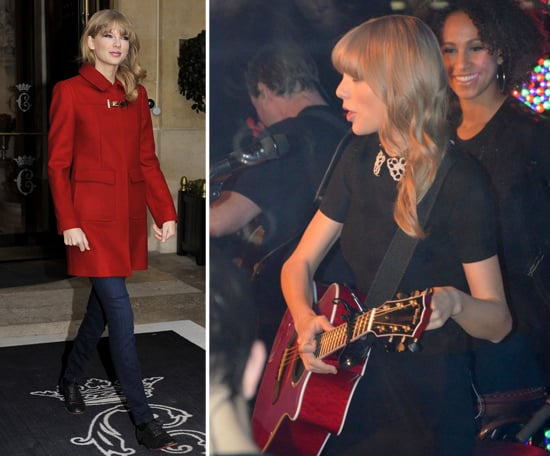 Taylor Swift Performs on a Boat in Paris (Pictures)