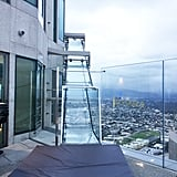 The Skyslide is about 1,000 feet above ground.