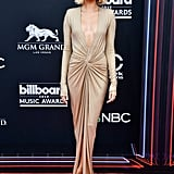 Hailey attended the Billboard Music Awards at the end of May in this plunging Alexandre Vauthier gown, styled with Jimmy Choo sandals and Jennifer Fisher jewellery.