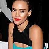 Jessica's bold lip was a hit with fashion followers.