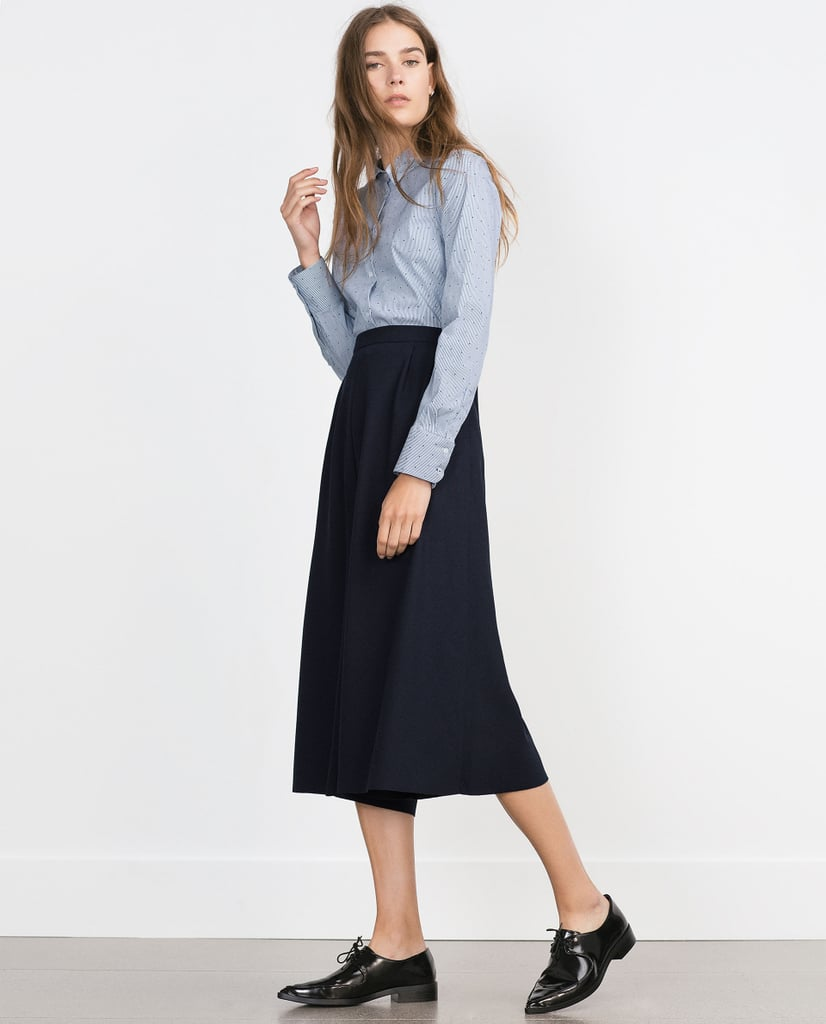 Zara Basic Poplin Shirt ($30)