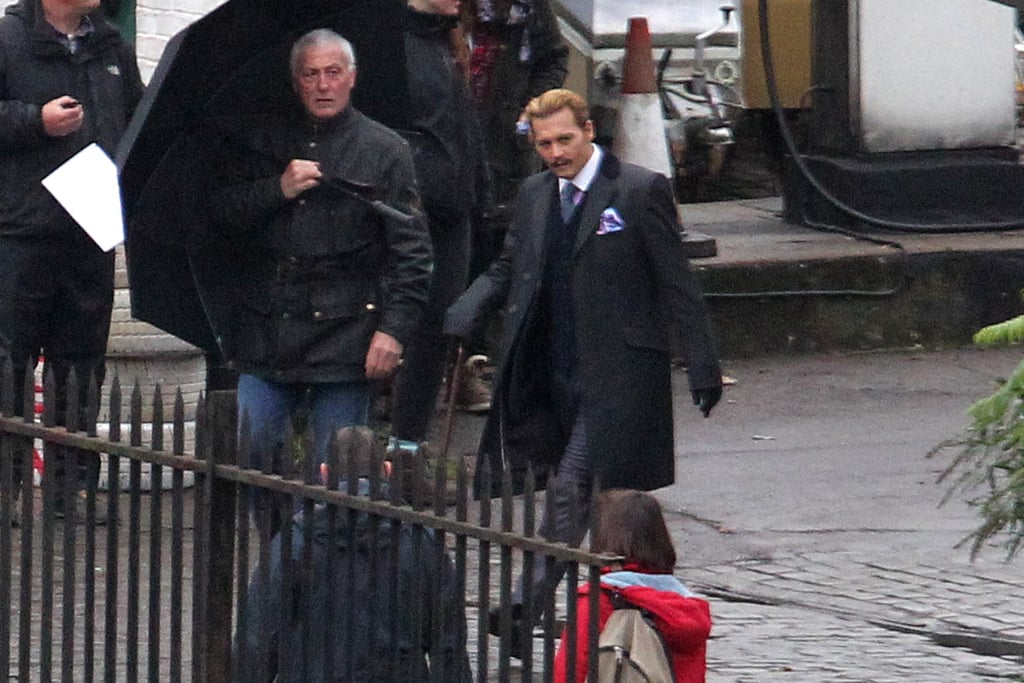 Johnny Depp filmed Mordecai in London on Thursday.