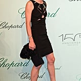 Charlotte Casiraghi wore a cool cutout frock at Chopard's 150th anniversary party.