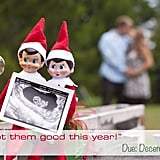 Elf on the Shelf Ultrasound Pregnancy Reveal