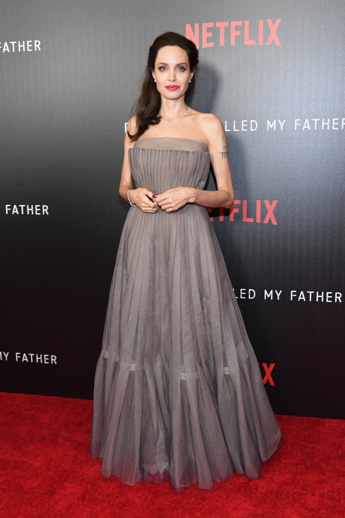 Angelina Jolie S Dior Dress At First They Killed My Father