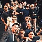 The whole cast, plus all the current 20th Century Fox superheroes, posed for a picture at Comic-Con.