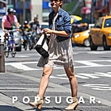 Katie Holmes Going Into Her NYC Apartment