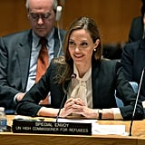 Angelina Jolie spoke to the UN Security Council about the issue of war-zone rape.