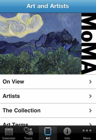 New MoMA iPhone App