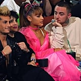 Frankie Grande, Ariana Grande, and Mac Miller at the 2016 MTV Video Music Awards.