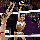 American beach volleyball duos May-Treanor/Walsh Jennings and Kessy/Ross battled it out for the gold.