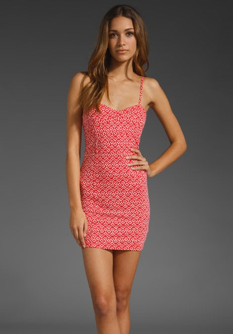 We love this printed bodycon dress — it's the perfect mix of sweet and sexy.  Free People Twist N' Shout Mini Dress ($108)