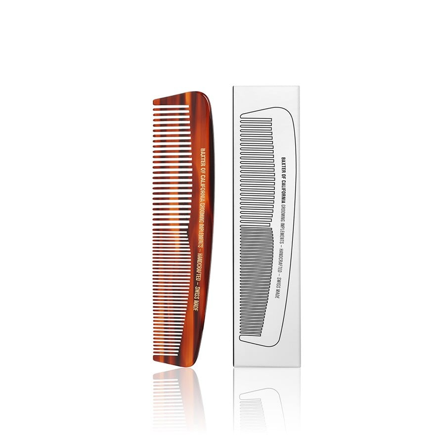 """This is a simple, on-the-go comb to keep in a gym bag. I'm planning on getting this for my colleague who works out in the morning and gets ready at the gym."" Baxter of California Pocket Comb ($20)"