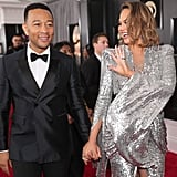 John Legend and Chrissy Teigen at the 2018 Grammys