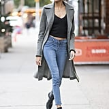 With Skinny Jeans and Ankle Boots
