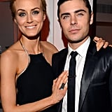 Zac Efron and Taylor Schilling posed together at the afterparty for the premiere of The Lucky One in LA.