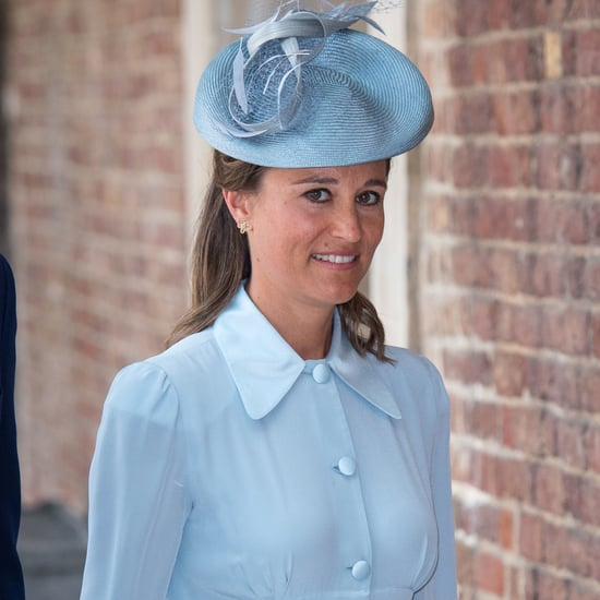 Pippa Middleton Blue Dress at Christening Prince Louis 2018
