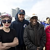 Lady Gaga and Taylor Kinney at Polar Plunge 2016