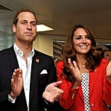 In August, Prince William and Kate Middleton said thank you to volunteers for helping out during the Olympic Games.