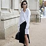 Side Tuck Creates Asymmetric Button Line