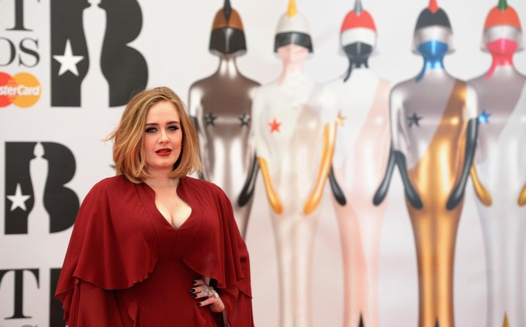 Adele at Brit Awards February 2016