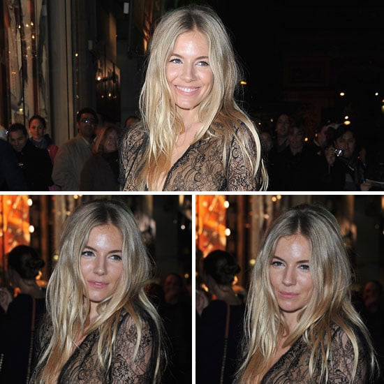 What Do You Think of Sienna Miller's Bronzed Beauty Look at the Lancel Celebrations?