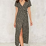 Nasty Gal Floral to Ceiling Wrap Dress ($68)