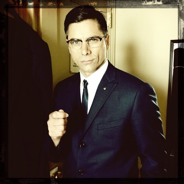 John Stamos looked dapper in costume for his Broadway show, The Best Man. Source: Instagram user jockostamps