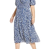 Reformation Augustina Midi Wrap Dress