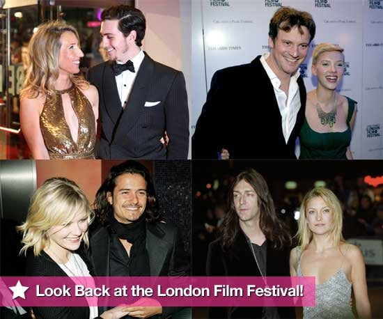 Pictures of Celebrities at London Film Festival Over the Years Including Aaron Johnson, Orlando Bloom, Kate Hudson, Colin Firth