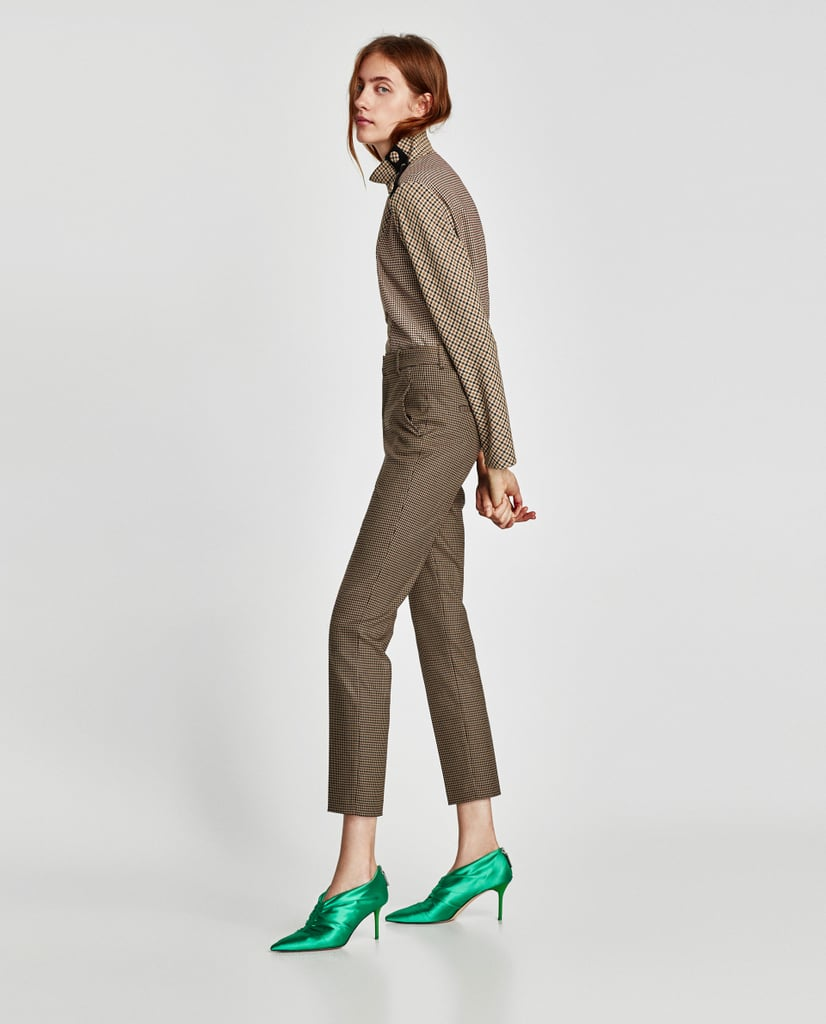 Our Pick: Zara High Waist Checked Trousers