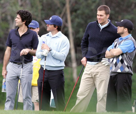 Photo of Tom Brady Filming His Guest Starring Role on Entourage With Adrian Grenier and Mark Wahlberg