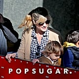 Selma Blair and her son, Arthur Bleick, spent the day at the farmers market in LA on Sunday.