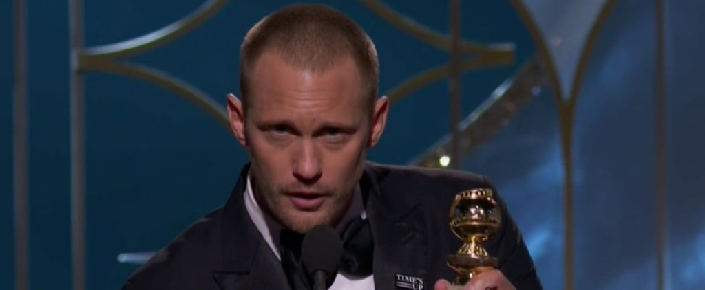 Alexander Skarsgard Gave His 8-Year-Old Brother the Cutest Shout-Out at the Golden Globes