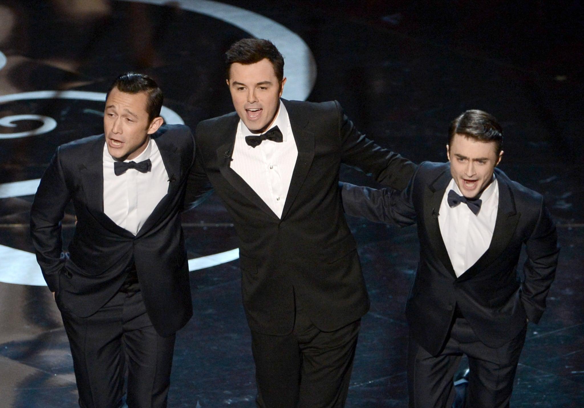 Seth MacFarlane sang with Joseph Gordon-Levitt and Daniel Radcliffe at the Oscars.