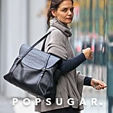 Katie Holmes arrived at a Whole Foods in NYC.