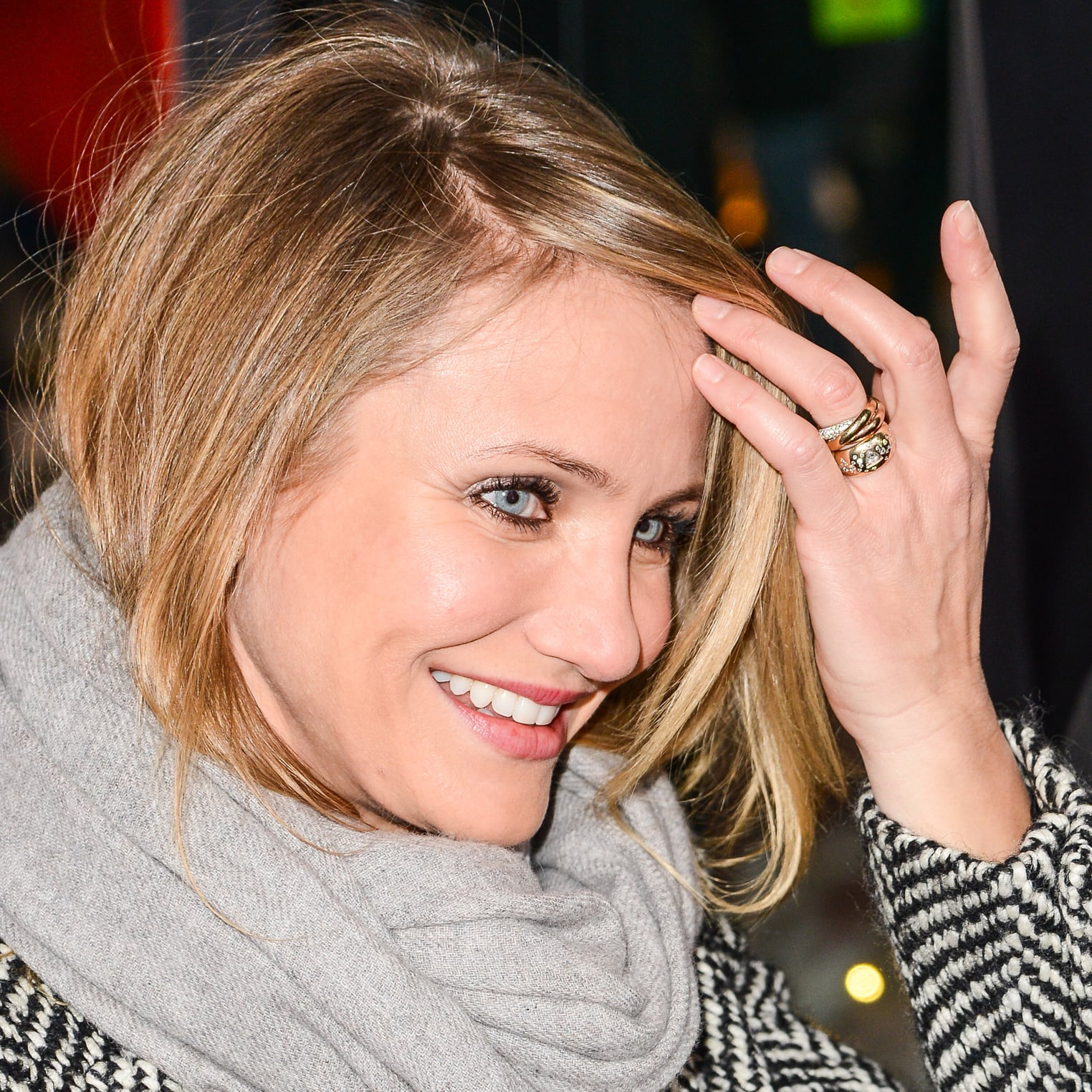Cameron Diaz Engagement Ring Pictures POPSUGAR Celebrity