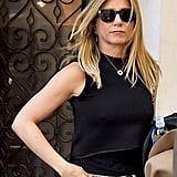 Jennifer Aniston's Evil-Eye Necklace in New York
