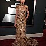 Taylor Swift wore Zuhair Murad to the 2012 Grammys.