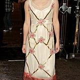 She was back on the red carpet in 2005 for The Goblet Of Fire premiere in Leicester Square.