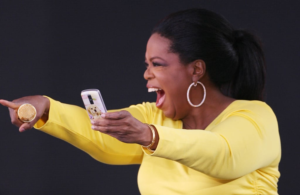 With a point, Oprah kicked off season 24 of The Oprah Winfrey Show in 2009.