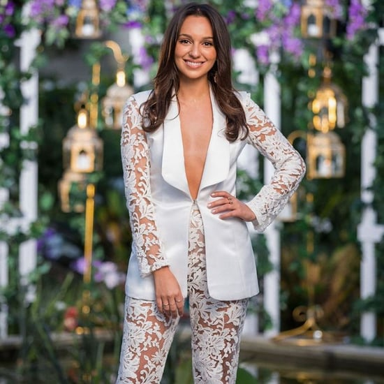 Where to Shop Bella Varelis White Lace Suit The Bachelor