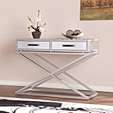 Southern Enterprises Manchester Industrial Mirrored Console Table