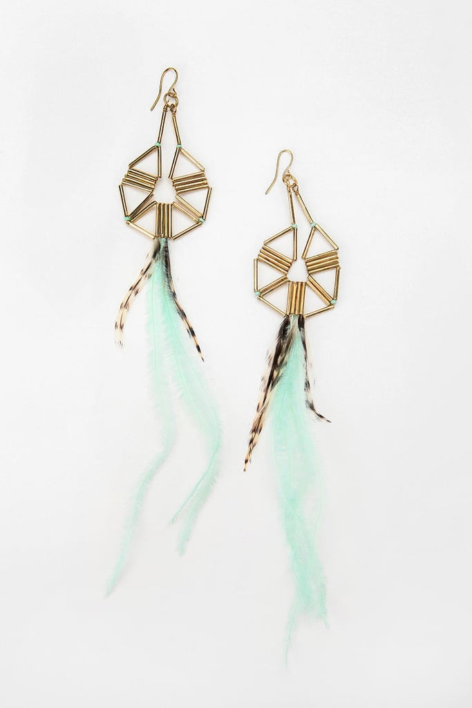 Urban Outfitters Mojave Feather Drop Earrings ($20)