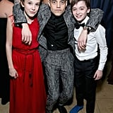 Millie Bobby Brown, Rami Malek, and Noah Schnapp