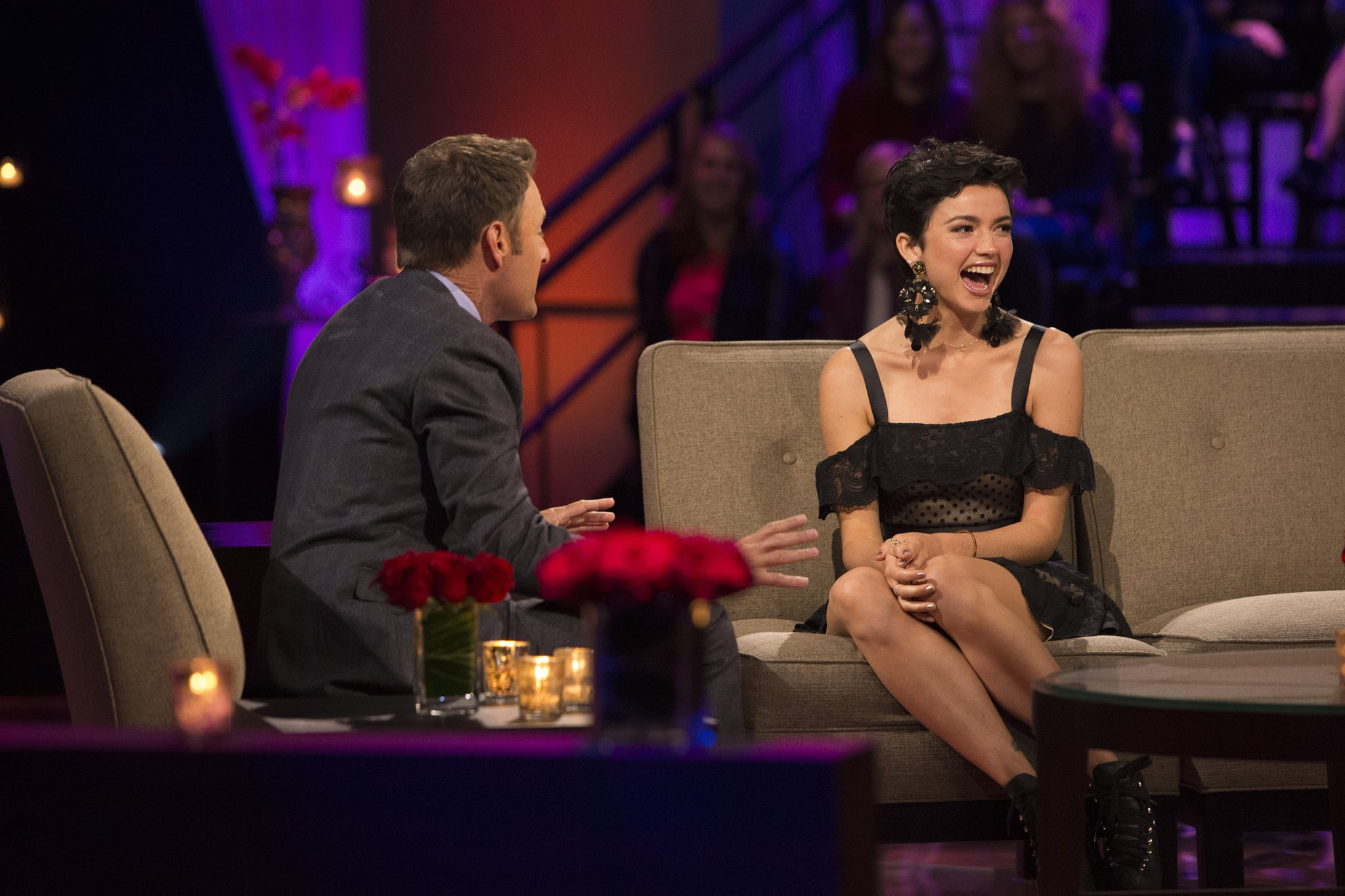THE BACHELOR - The Bachelor: The Women Tell All - Arie Luyendyk Jr.s search for love has taken him from Los Angeles to Peru. Along the way there have been highs and lows - and then there was Krystal, one of the most controversial bachelorettes of the group. Now, 18 of the most unforgettable women this season are back to confront Arie and tell their side of the story and how difficult it was to date a Bachelor who was falling for multiple women. Krystal attempts to defend her behavior, but a never- seen clip from the bowling alley date reveals her calling out the women and Arie with shocking words. Bekah M. admonishes Tia for going behind her back to Arie about her age. Look back at some of the most memorable moments in The Bachelor: The Women Tell All history. Then, take a sneak peek at the dramatic conclusion to Aries search for love, on The Bachelor: The Women Tell All, SUNDAY, FEB. 25 (8:00-10:00 p.m. EST), on The ABC Television Network. (ABC/Paul Hebert)BEKAH