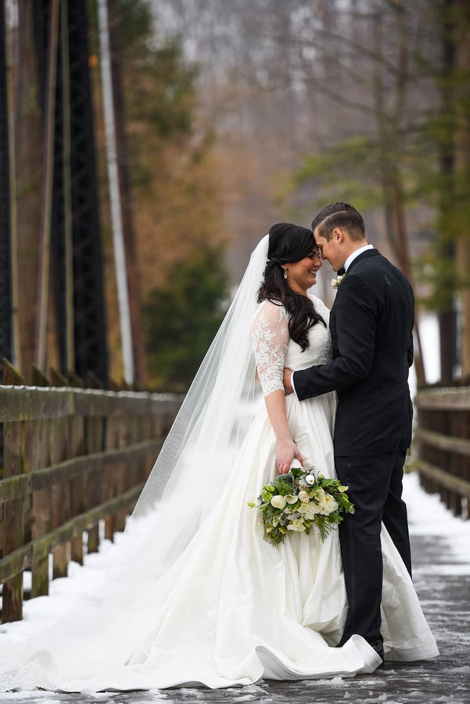 Every detail of Dana and Greg's Winter wonderland wedding had so much thought behind it. See the wedding here!