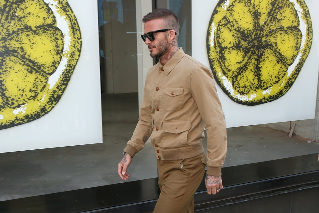 David Beckham at London Fashion Week Men's 2018