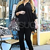 Jessica Simpson was happy on her way to a bridal boutique.